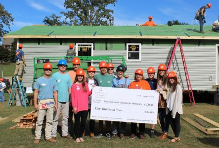 EPOCH Clemson Tribe with Check Donation for Homecoming Build