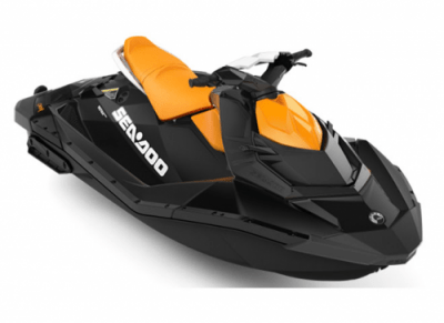 Orange and black Sea-Doo Jetski
