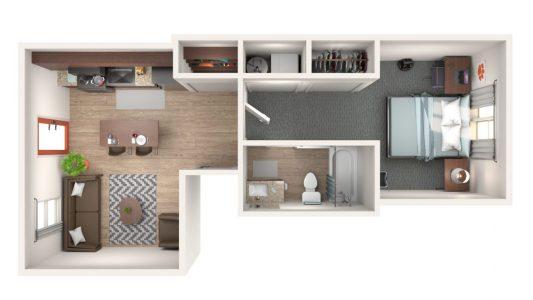 1 Bedroom Brownstone
